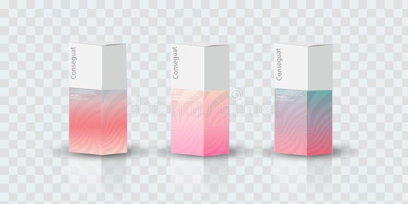 箱子,产品传染媒介设计例证的包装的模板 皇族释放例证