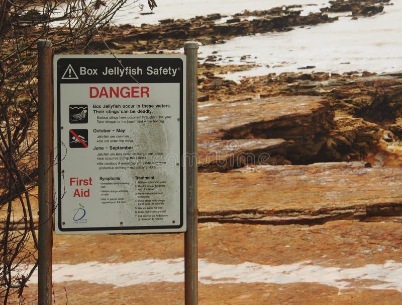 箱子水母安全,达尔文,澳大利亚 免版税库存照片