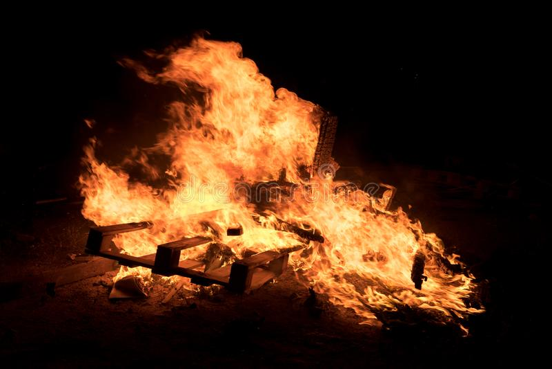 篝火照明设备犹太假日滞后Baomer 图库摄影