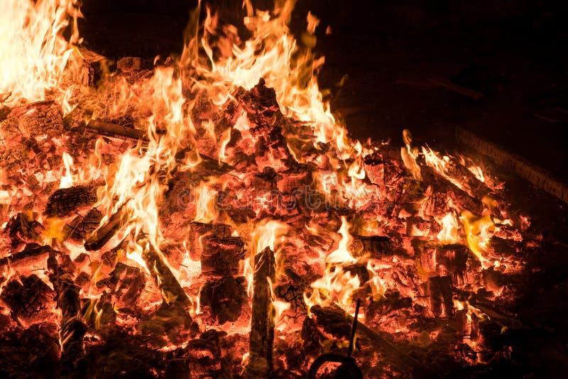篝火照明设备犹太假日滞后Baomer 免版税库存图片