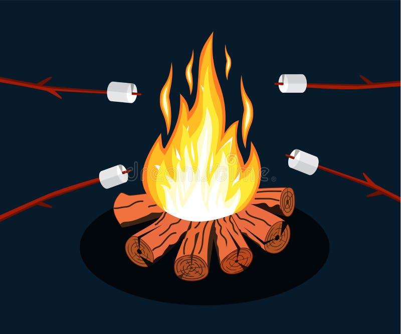 篝火用蛋白软糖 皇族释放例证