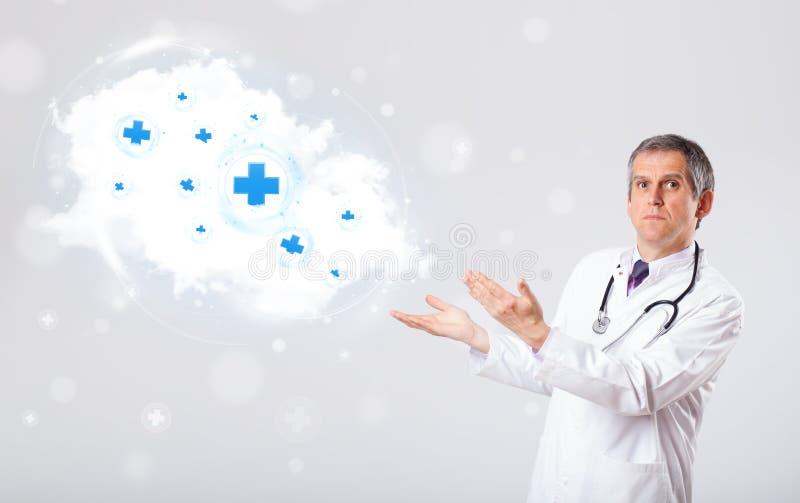 Download 篡改听与医疗标志的抽象云彩 库存照片. 图片 包括有 藏品, 中间, aguilar, 蓝色, 图标, 医疗 - 62526584