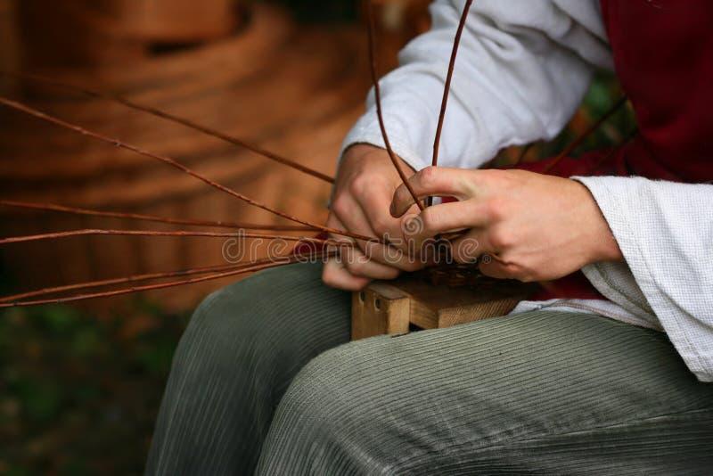 篮子制造商 免版税库存图片