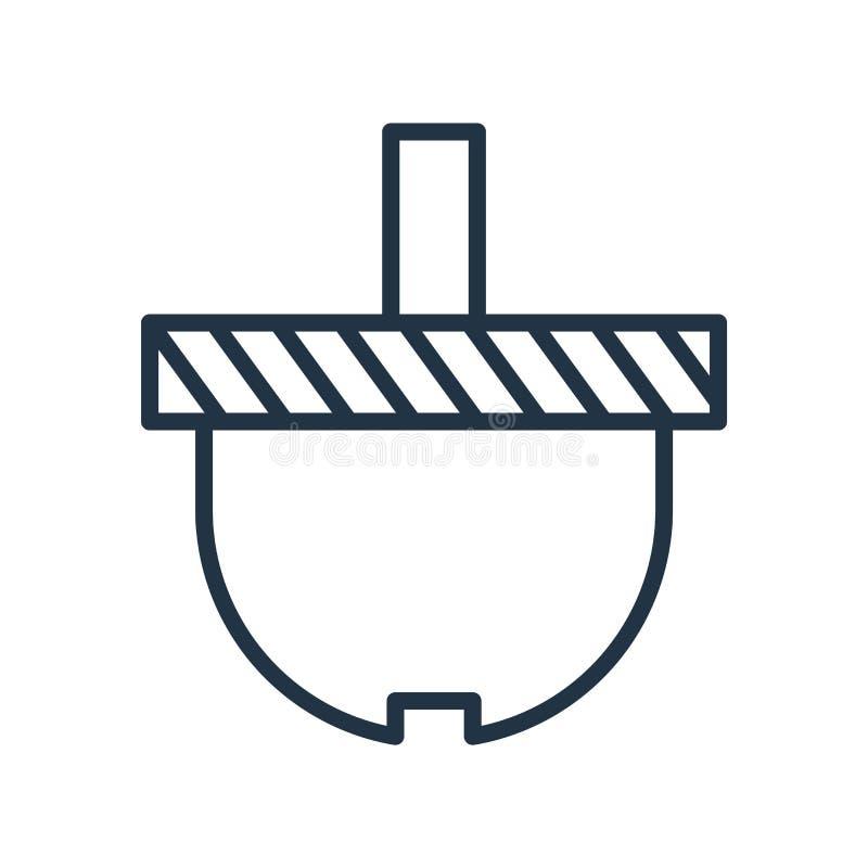 篮子在白色背景隔绝的象传染媒介,篮子标志 向量例证