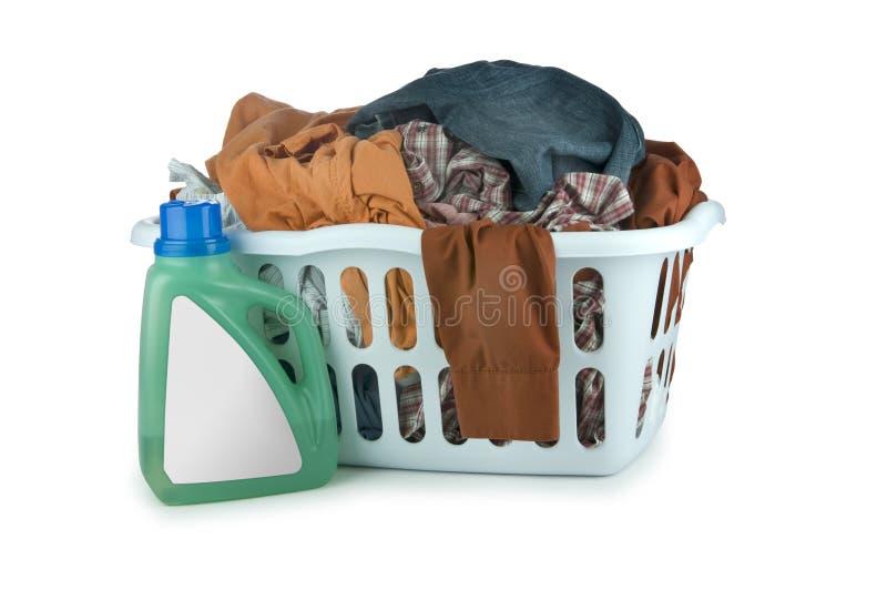 篮子夹子洗衣店路径 图库摄影