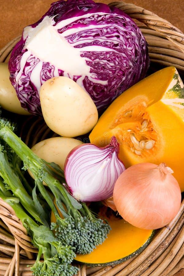篮子新鲜蔬菜 库存照片