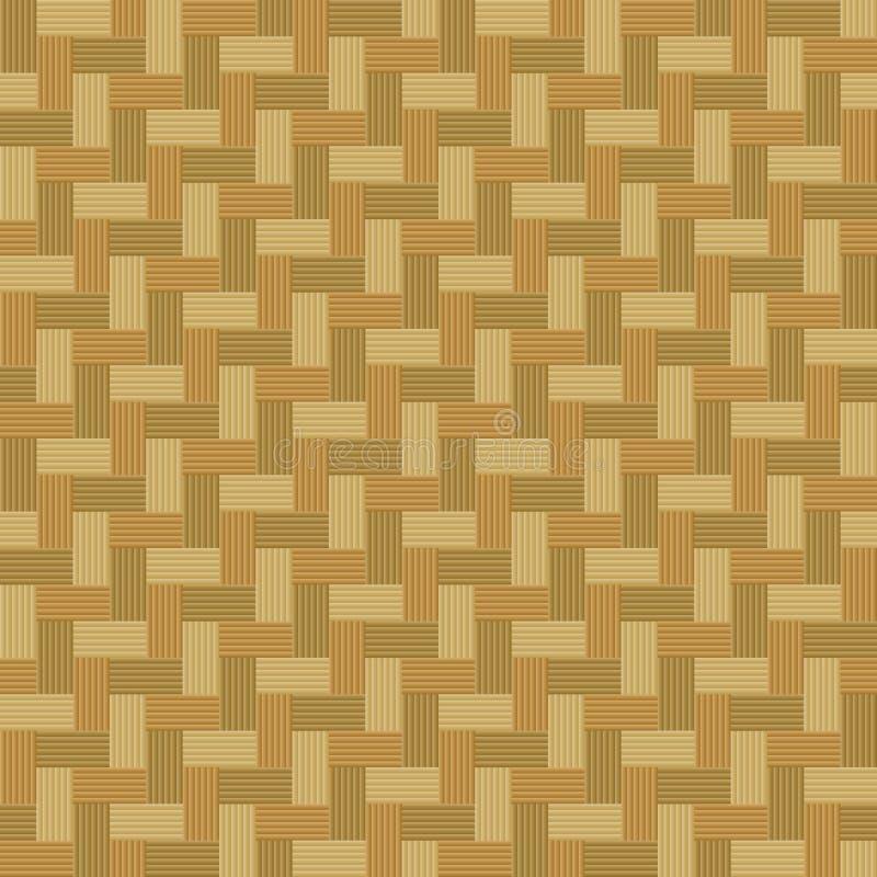 篮子无缝的织法 向量例证