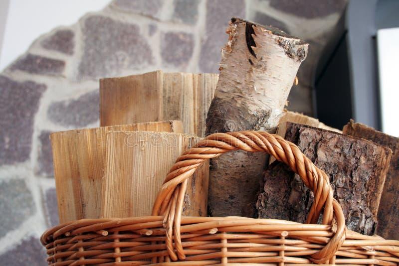 篮子木头 库存图片