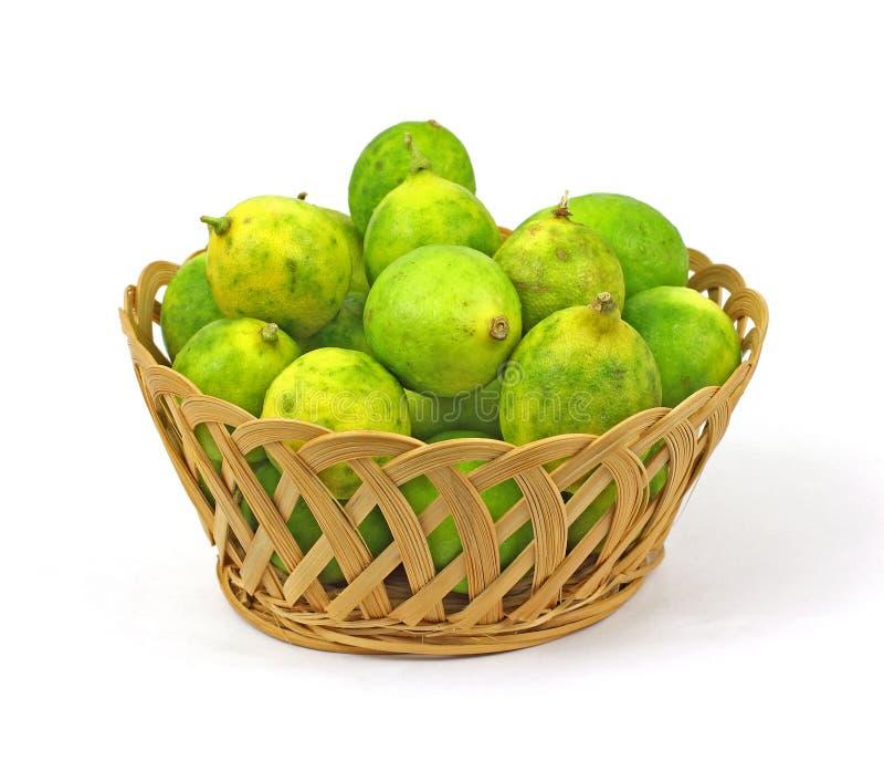 篮子果子礁莱檬 免版税库存图片