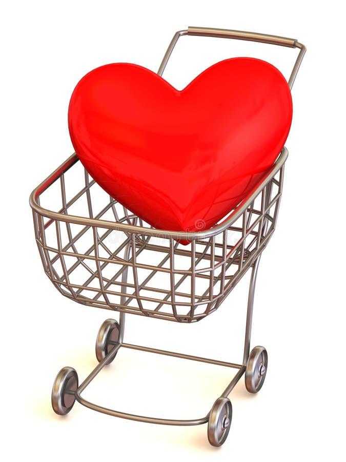 篮子消费者重点s 向量例证