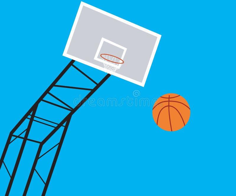 篮子球现场 库存例证