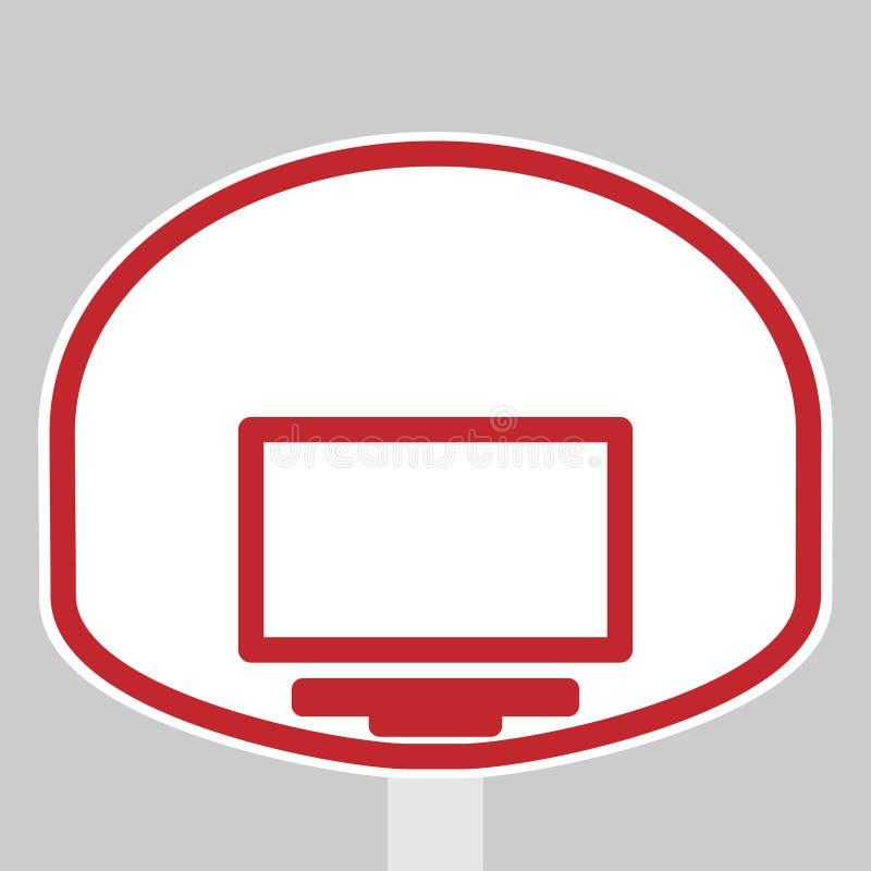 篮子盾和圆环篮球的 皇族释放例证