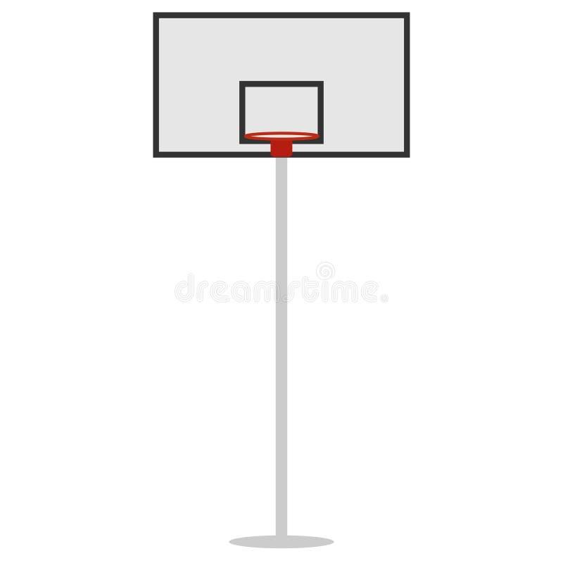 篮子盾和圆环篮球的 向量例证