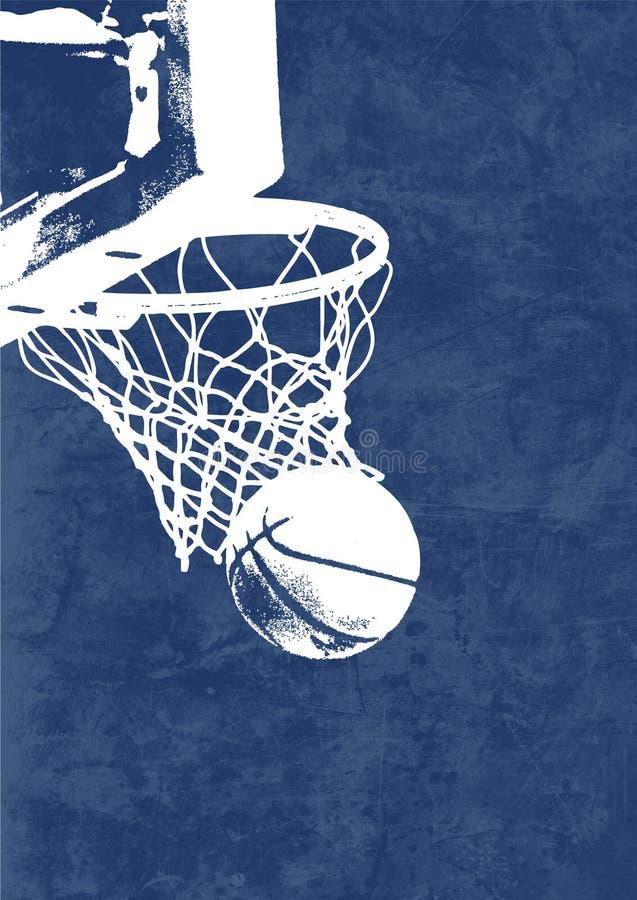 篮子篮球 向量例证