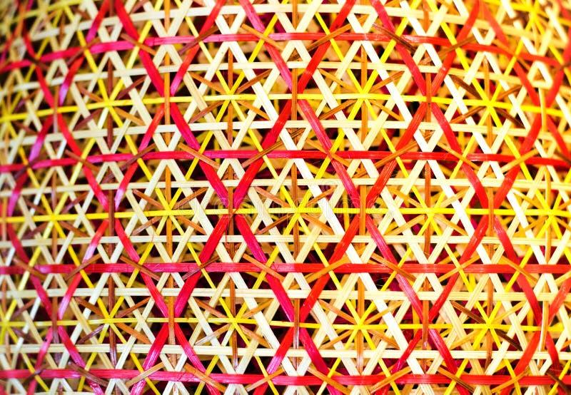 篮子纹理的藤条纹理 库存图片