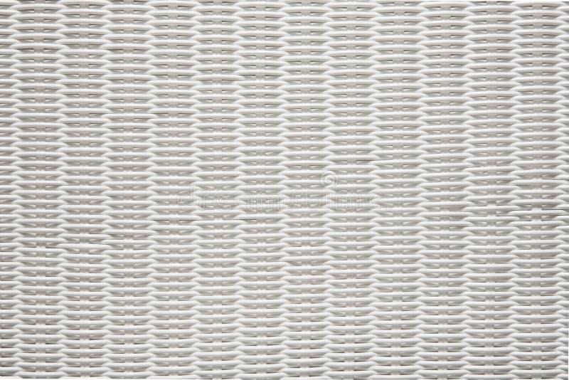 篮子纹理织法样式,白色柳条筐背景 免版税库存照片