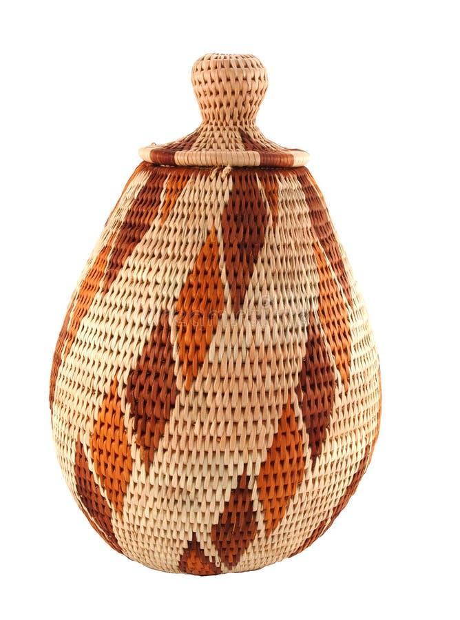 篮子被关闭被编织的博茨瓦纳 免版税图库摄影