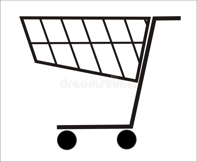 篮子购物 库存照片