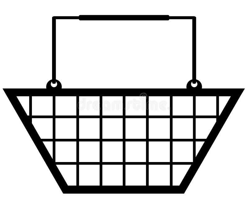 篮子购物 皇族释放例证