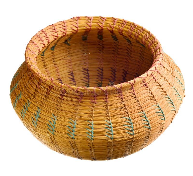 篮子车落基印第安人手织 免版税库存照片