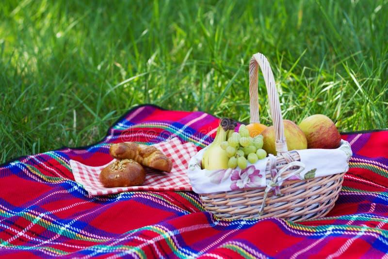 篮子野餐 免版税图库摄影