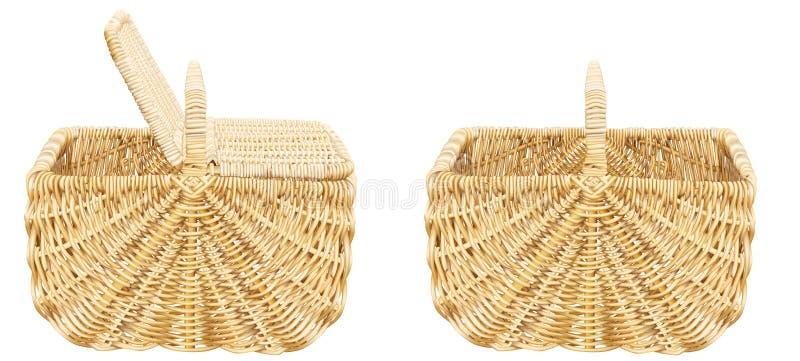 篮子野餐 库存例证