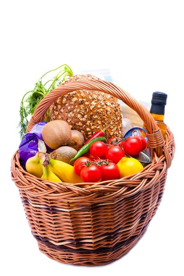 篮子食物副食品 免版税库存图片