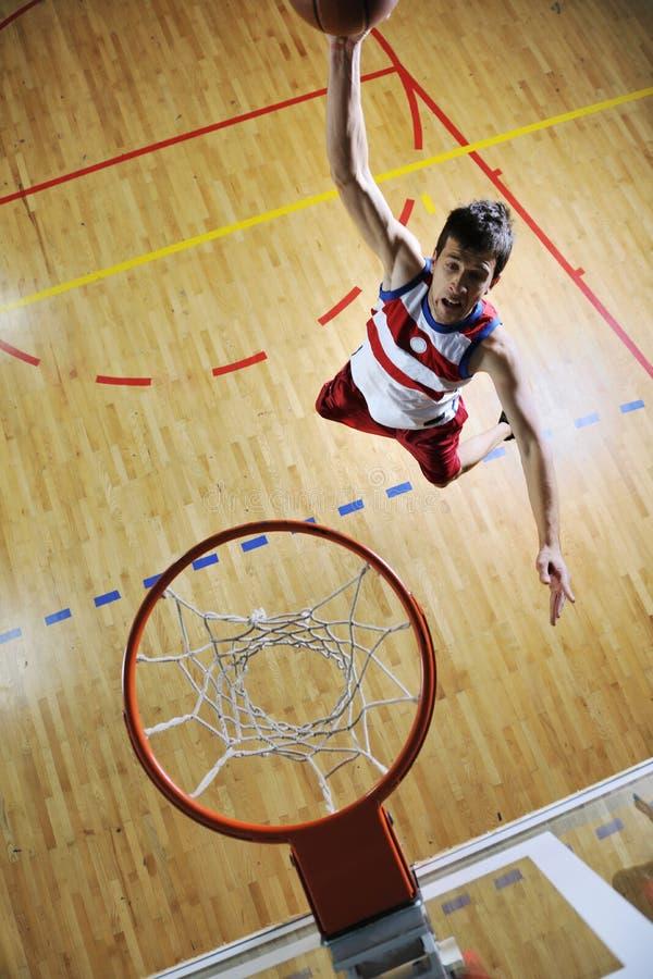 篮球上涨 免版税库存照片