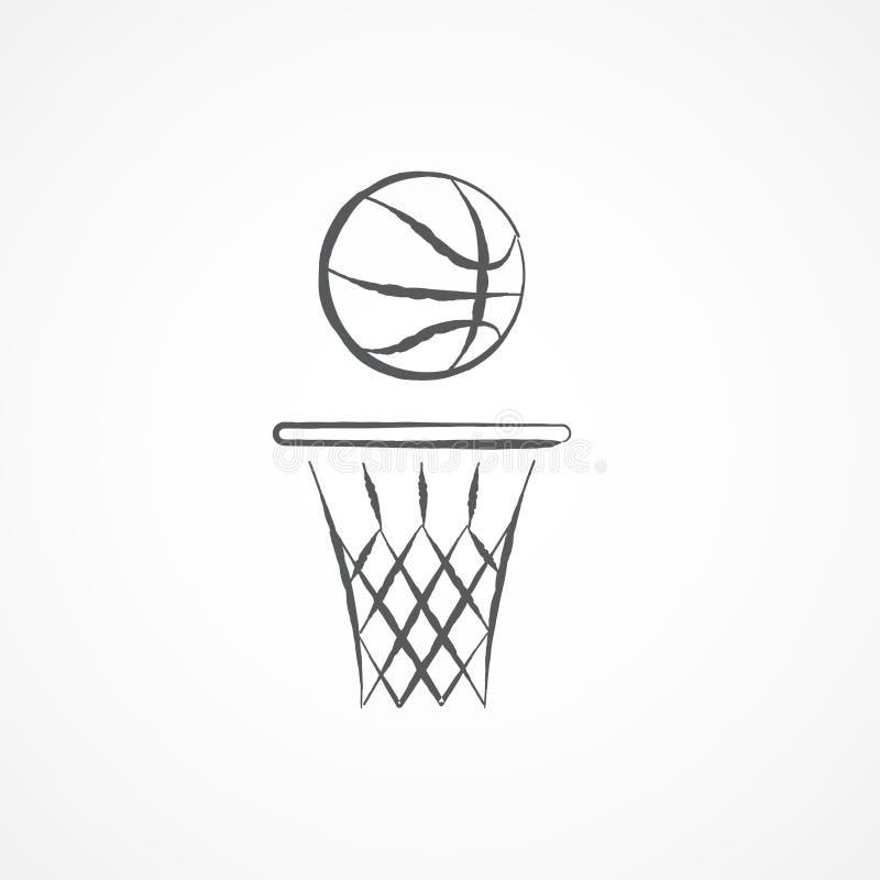 篮球乱画象 库存例证