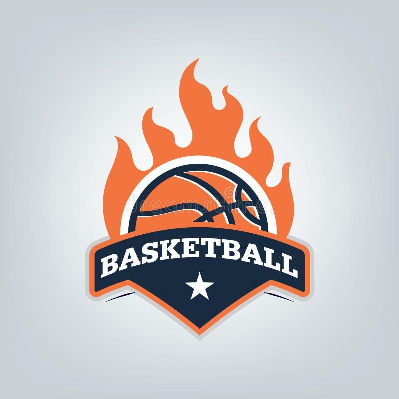篮球体育商标模板设计,传染媒介例证 库存例证