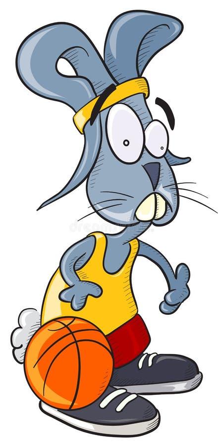 篮球兔宝宝 库存例证