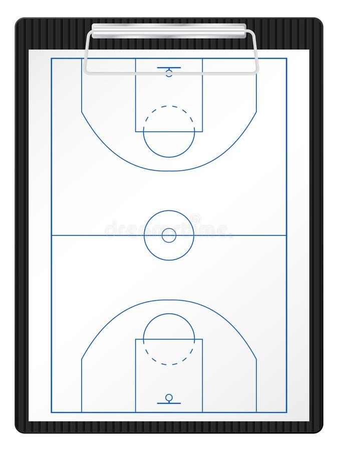 篮球剪贴板 库存例证