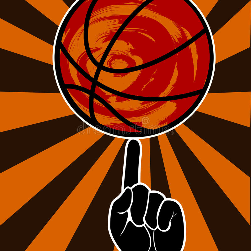 篮球印刷葡萄酒难看的东西样式海报 库存例证图片