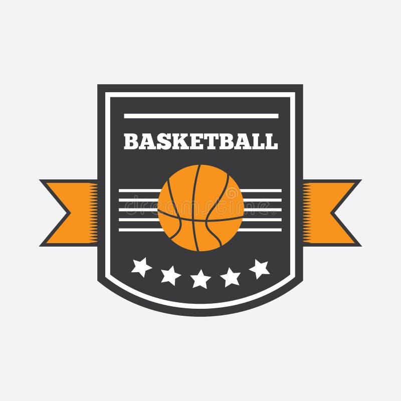 篮球商标设计 库存例证