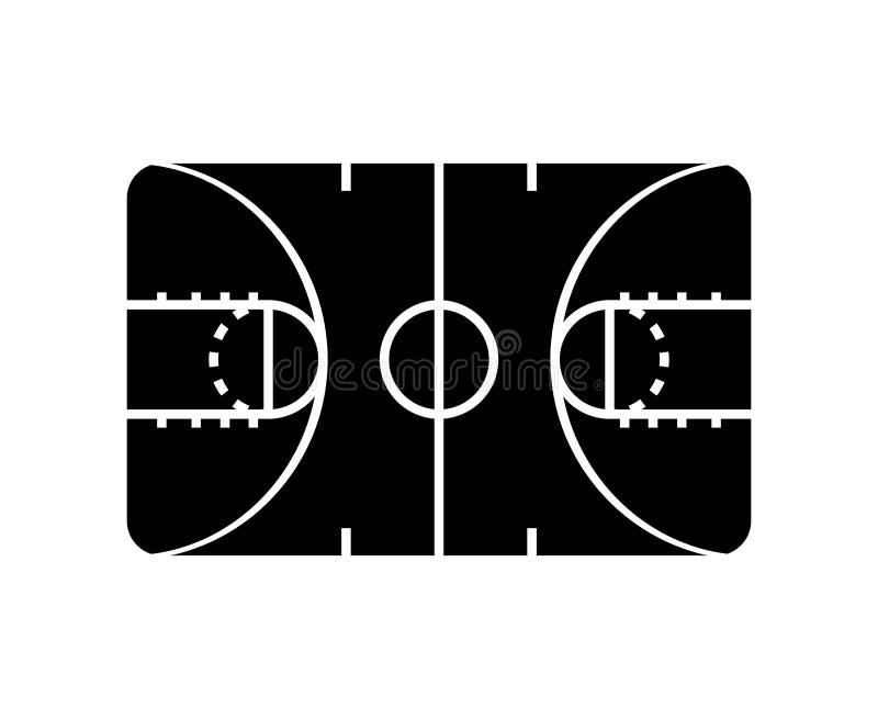 篮球场体育象 皇族释放例证