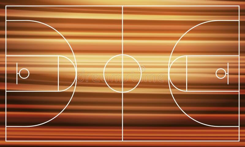 篮球场室内操场炫耀木 向量例证
