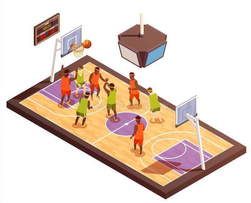 篮球场等量构成 皇族释放例证
