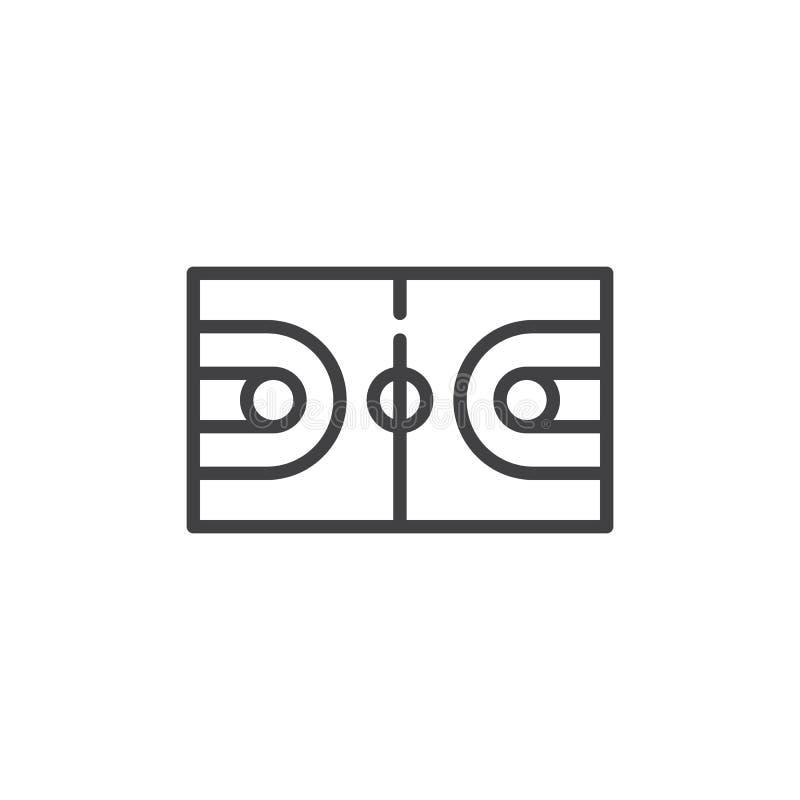 篮球场线象 皇族释放例证