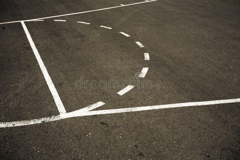 篮球场街道 免版税库存照片
