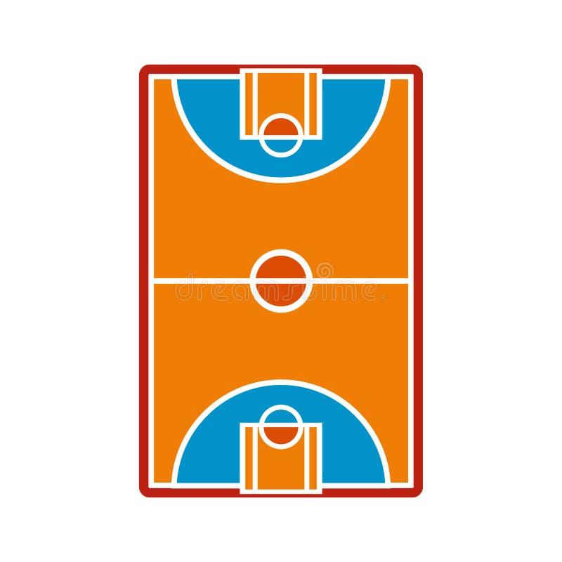 篮球场领域象 库存例证