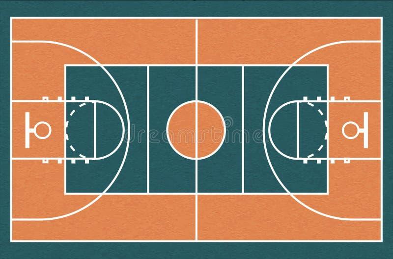 篮球场,传染媒介例证 向量例证