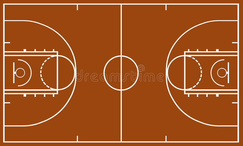 篮球场 皇族释放例证