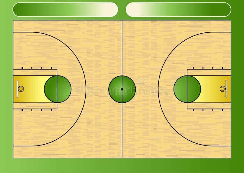 篮球场 库存例证