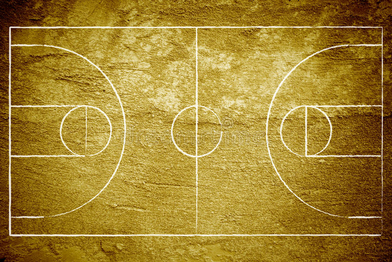 篮球场grunge 库存例证
