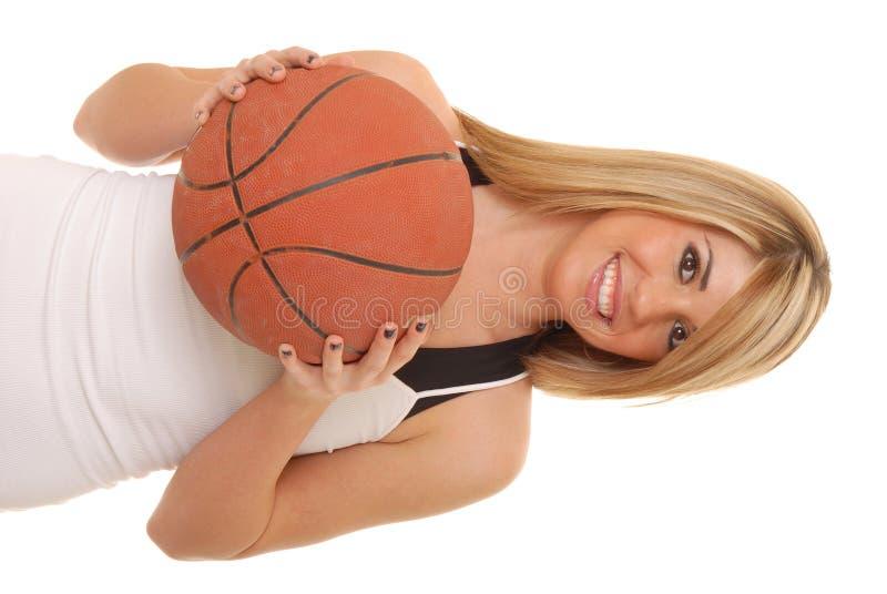 篮球女孩 免版税库存图片