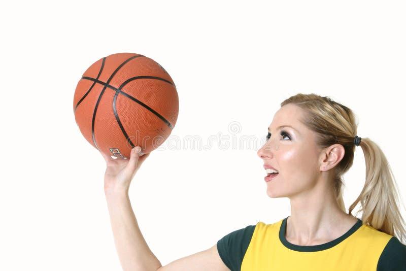 篮球妇女 免版税库存照片