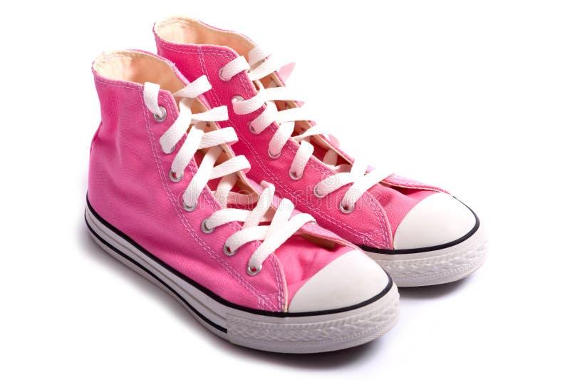 篮球桃红色鞋子 库存照片