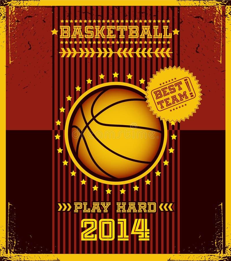 篮球海报。 皇族释放例证