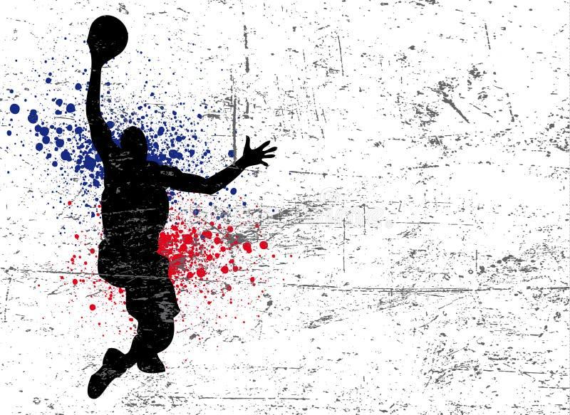 篮球海报 向量例证
