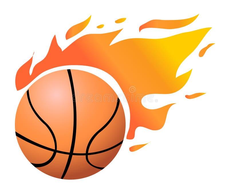 篮球火焰状向量 库存例证